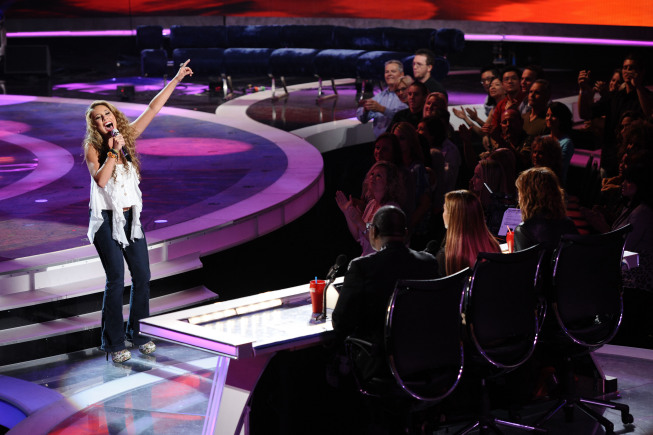 AMERICAN IDOL: Haley Reinhart sings her farewell song after being elimintaed on AMERICAN IDOL airing Thursday,  May 19 (8:00-9:00 PM ET/PT) on FOX. CR: Michael Becker / FOX