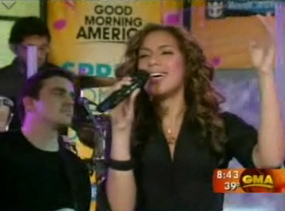 Leona Lewis on Good Morning America