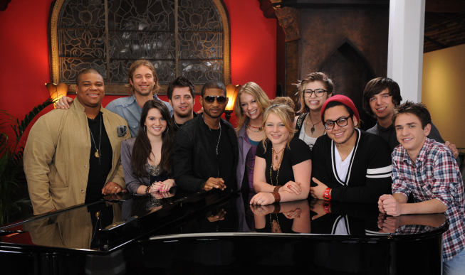 American idol 9 Top 10 with Usher