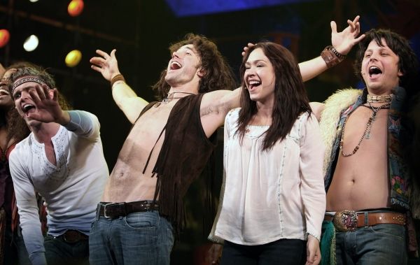 ace young and diana degarmo get naked for their hair debut