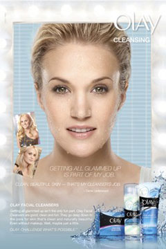 Carrie Underwood - The New Face of Olay - First Print Ad